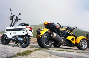 Can-Am Spyder Roadster & Honda Motocompo大兵小將