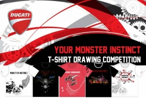 "Ducati 「Your Monster Instinct T-shirt Drawing Competition 設計比賽」 投票選出""最喜歡""的作品"