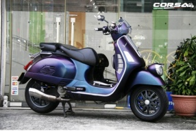 Vespa GTV 300 幻彩紫車身轉色及改裝 - Corsa Motors