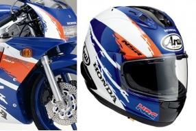 HONDA NSR限量頭盔「潑水藍」花