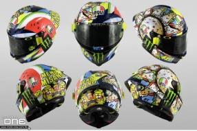 羅絲2019 MotoGP意大利聖瑪利諾站│Menu Misano 意大利國旗西瓜月亮、薄餅太陽│有趣食物羅絲專屬拉花頭盔