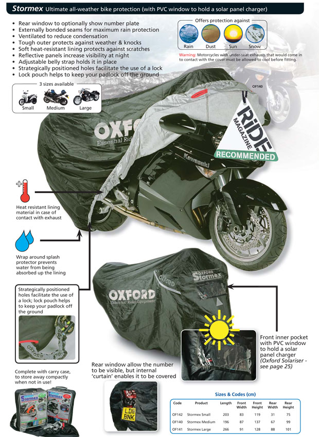 Oxford bike protection moto-one.com.hk