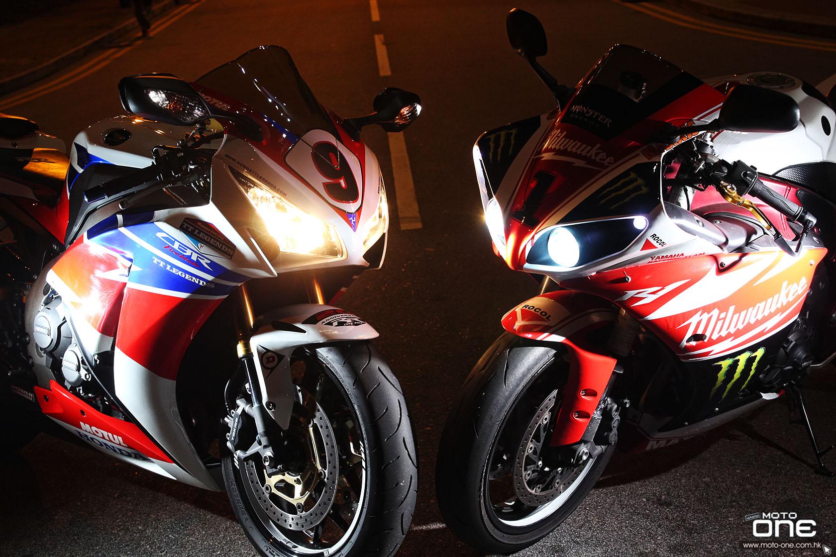 Yamaha YZF R1 & HONDA CBR1000RR-澳門格電拉花現香港